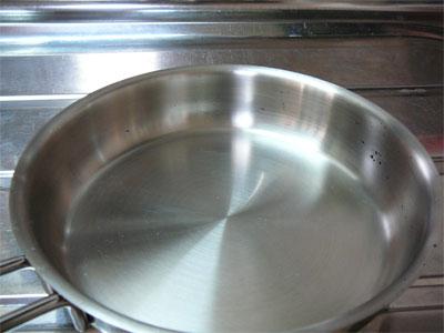 フライパンをキレイの匠で洗う前